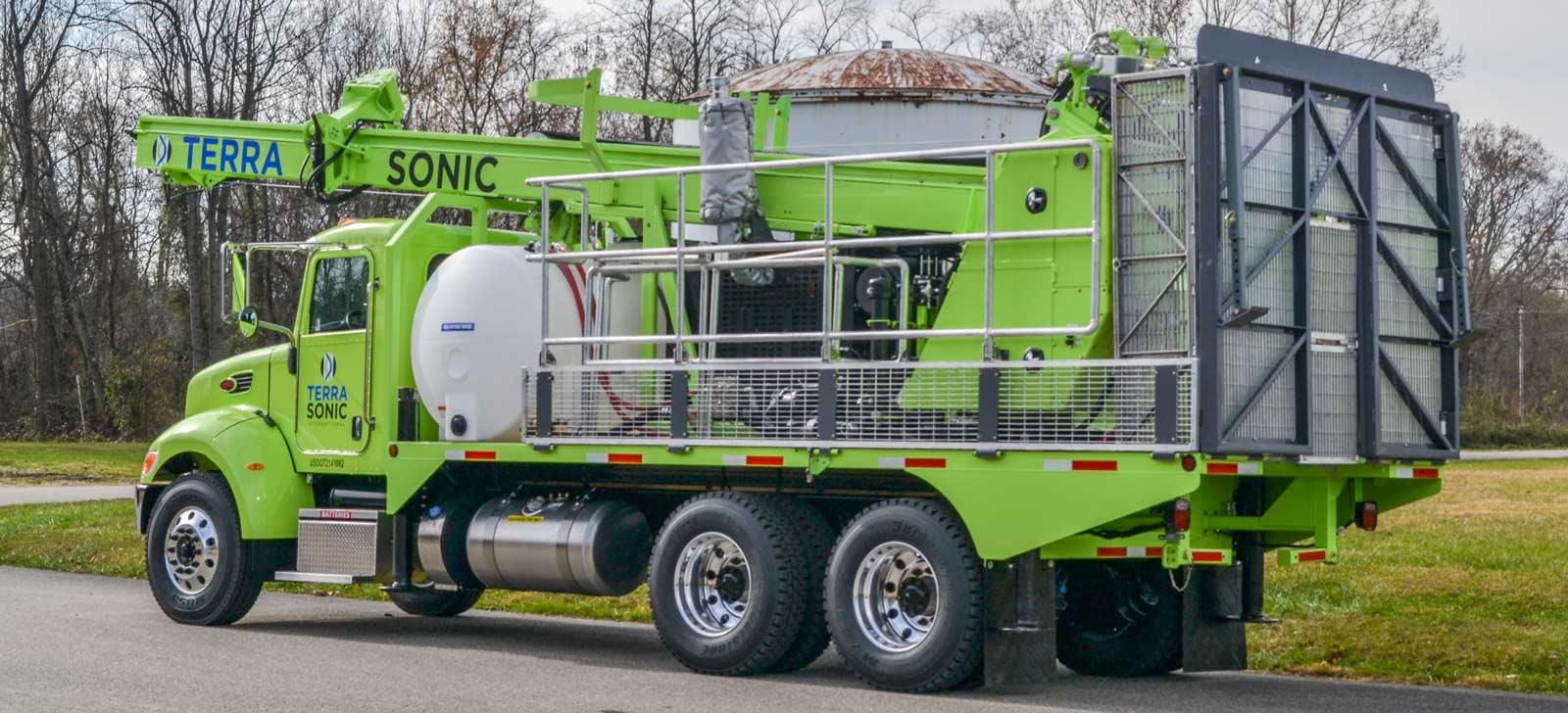 TSi Sonic Drill Rig Truck - rear quarter view