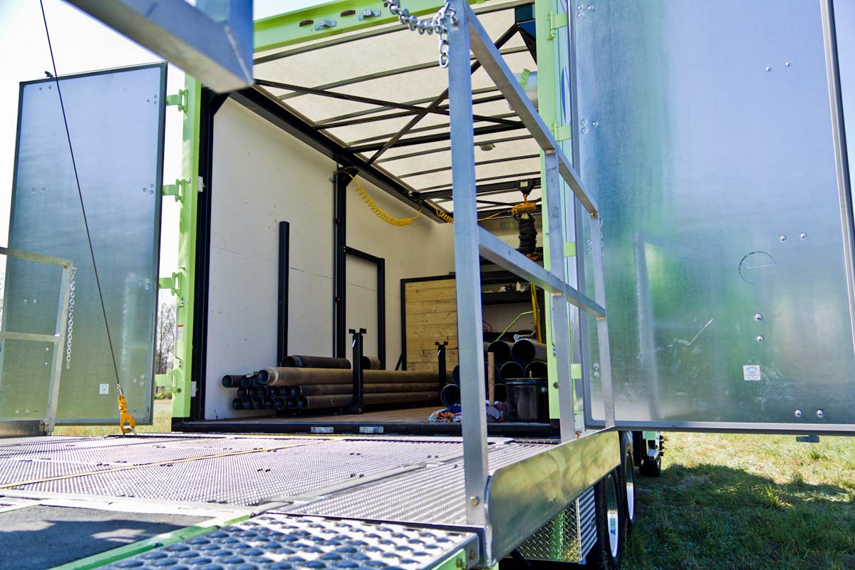 TSi Support Truck for sonic drill rig open