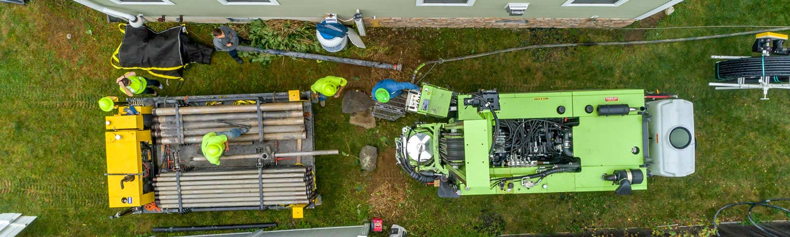 Geothermal installation using a TSi 150CC Sonic Drill Rig