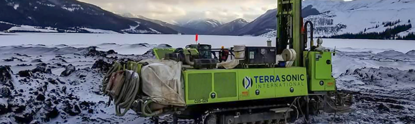 Terra Sonic Sonic Drill rig used for mining exploration