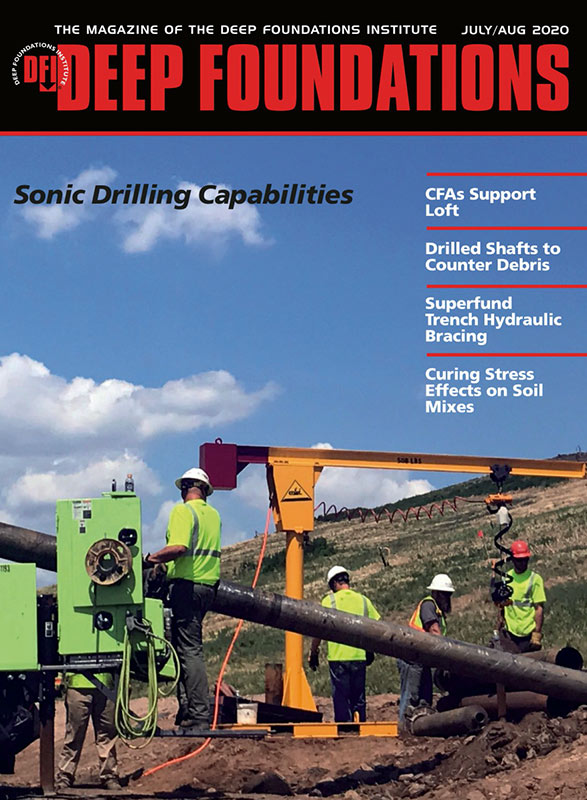 Deep Foundations Magazine Sonic Drilling Cover