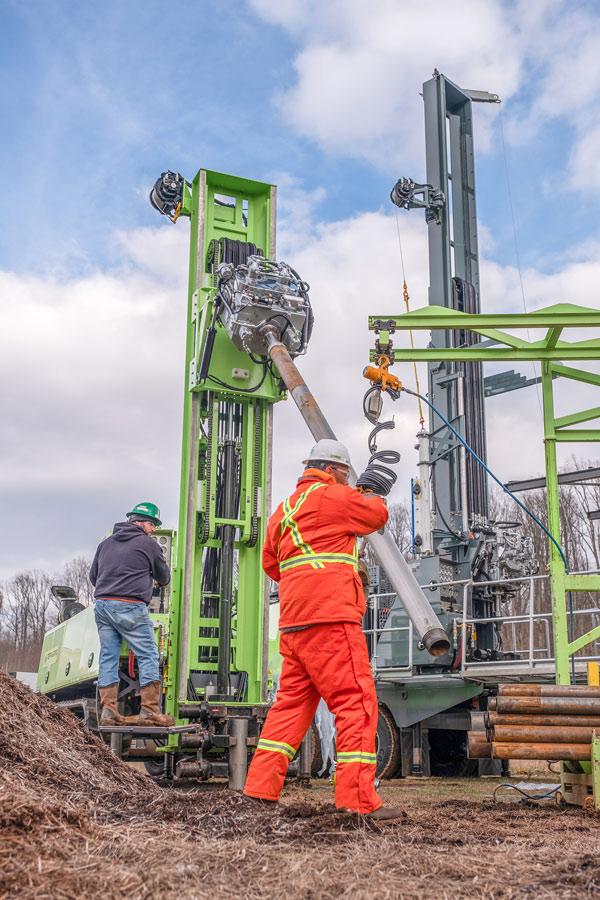 Sonic drilling demonstration